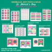 Emerald Gold and Pink St. Patrick's Day Printables - Instant Download