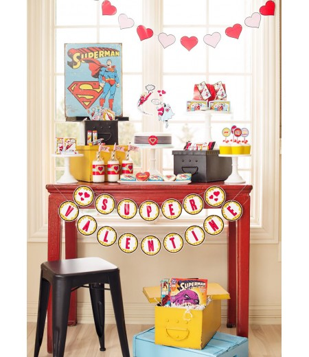 Super Hero Valentine's Day Printable Party and Card Collection - Instant Download