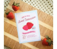 Strawberry Party Sweet Celebration Birthday Party Printable Invitation