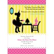Tea Party with Baby Dolls & Tutus Birthday Party Printable Invitation - Bold Colors
