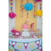 Tea Party with Baby Dolls and Tutus Birthday Party Printable Collection - Bold Colors