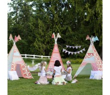 Tee-Pee Tea Party Glam Camping Girl Camping Birthday Party Printables Collection