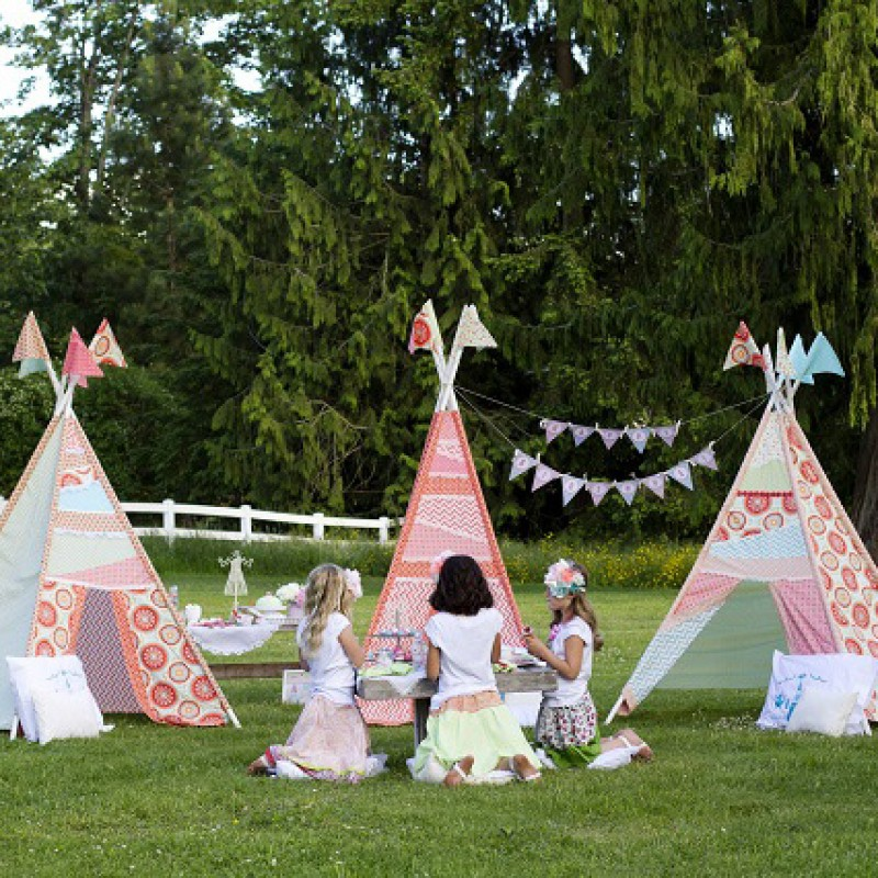 Tee Pee Tea Party Glam Camping Girl Camping Birthday Party