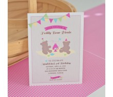 Teddy Bear Picnic Printable Birthday Party Invitation