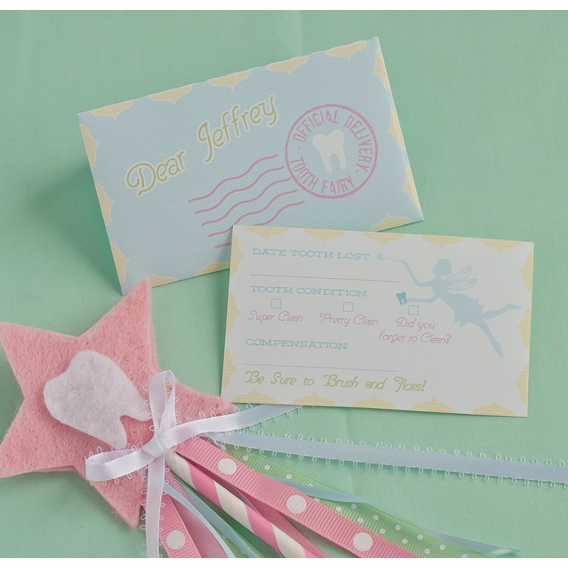 graphic regarding Tooth Fairy Card Printable called Enamel Fairy Custom-made Printable Letter and Envelope