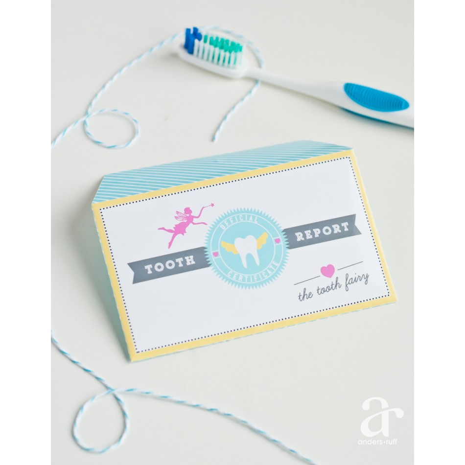 Tooth Fairy Printable Certificate And Envelope INSTANT