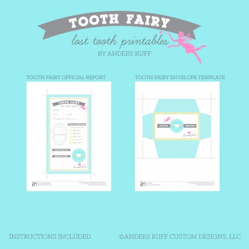 photograph regarding Free Printable Tooth Fairy Letter and Envelope known as Enamel Fairy Printable Certification and Envelope - Instantaneous