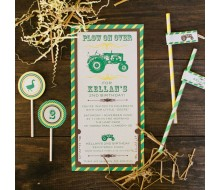 Tractor John Deere Inspired Birthday Party Printable Invitation