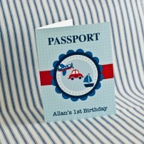 Transportation Birthday Party Printable Passport Invitation - Planes, Trains and Automobiles