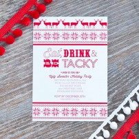 Ugly Sweater Christmas or Holiday Party Printable Invitation