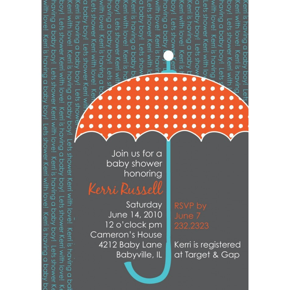 umbrella baby shower invitations images, Baby shower