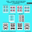 Mr and Miss Mustache Valentines Day Printables for Boys and Girls - DIY Collection - Instant Download