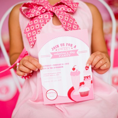 Sweet Shoppe Valentines Day Party Printable Invitation