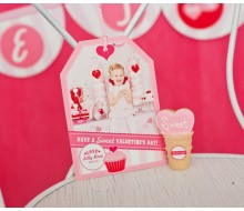 Sweet Valentines Day Photo Hangtag Card - Customized Printable Photo Card