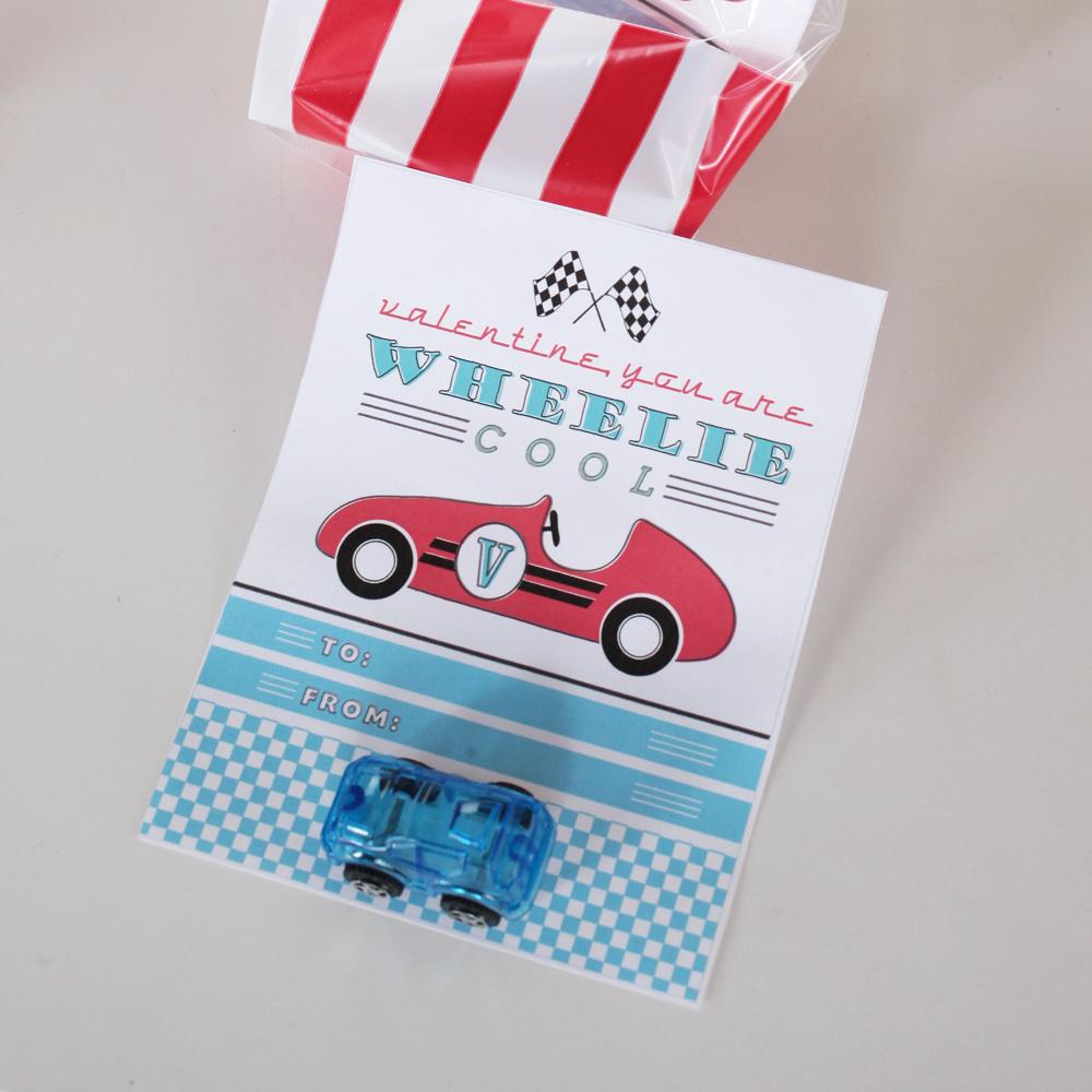 Cool Vintage Car Valentines Day Printable Card Instant Download – Cool Valentines Day Card