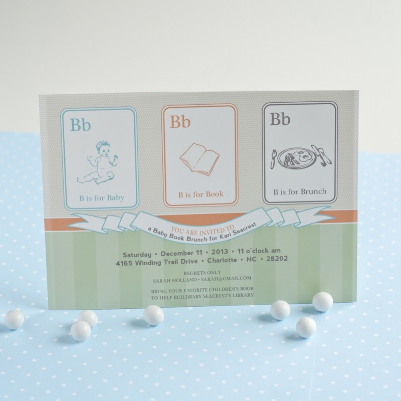 Baby Books Baby Shower Printable Invitation