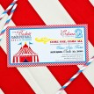 Vintage Carnival Circus Birthday Party Printable Invitation - Red, Yellow, Blue