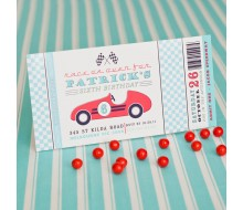 Vintage Race Car Birthday Party Printable Invitation