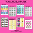 Vintage Super Girl Printable Collection