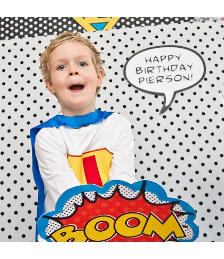 Vintage Super Hero Printable Photo Booth Callout Signs