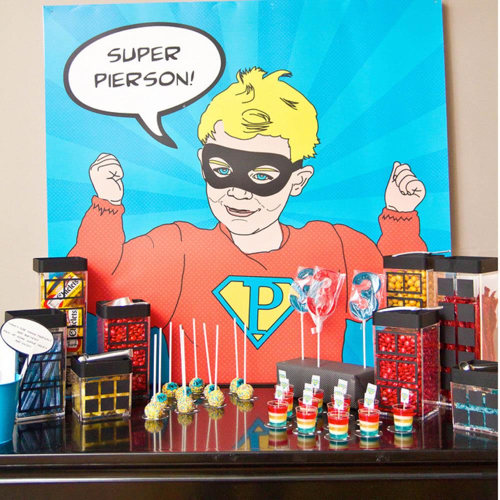 Vintage Super Hero Printable Pop Art Poster Decor