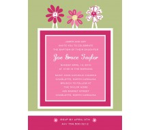 Whimsical Flowers Frame Printable Invitation