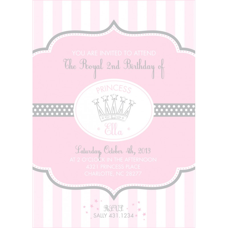 Whimsical pink princess birthday party printable invitation filmwisefo