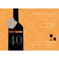 Wine Tasting Birthday Party Printable Invitation