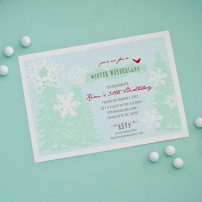 Winter Wonderland Holiday or Birthday Party Printable Invitation