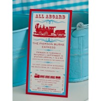 Vintage Train Invitation - Birthday Party Printable Invitation